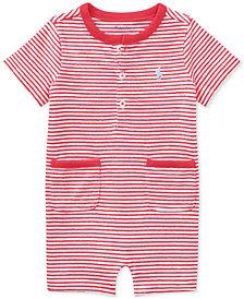 Ralph Lauren Striped Cotton Romper, Baby Boys