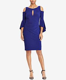Lauren Ralph Lauren Cold-Shoulder Keyhole Dress, Regular & Petite Sizes