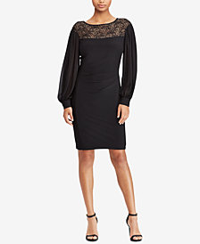 Lauren Ralph Lauren Lace-Yoke Dress