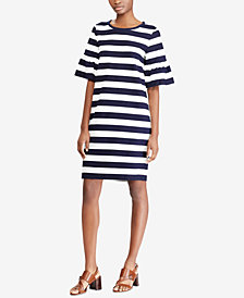 Lauren Ralph Lauren Striped Ponté-Knit Dress