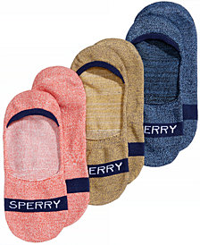 Sperry Marled Invisible Solid Liner Socks 3-Pack