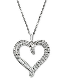Diamond Heart Pendant Necklace (1 ct. t.w.)