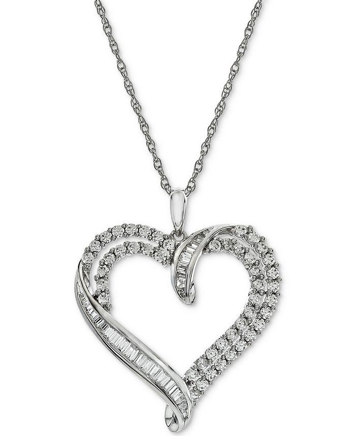 Macy's - Diamond Heart Pendant Necklace (1 ct. t.w.)
