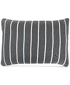 "Lacoste Home Knit Ottoman Stripe 12"" x 18"" Decorative Pillow"