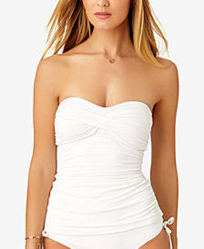Anne Cole Twist-Front Ruched Tankini Top