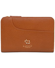 Pockets Medium Zip Around Leather Wallet