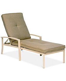 Beach House Outdoor Chaise Lounge, with Sunbrella® Cushions, Created for Macy's