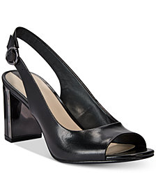 Alfani Women's Step 'N Flex Florraa Slingback Peep-Toe Dress Sandals, Created for Macy's