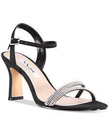 Nina Avalon Embellished Ankle-Strap Evening Sandals