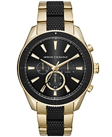 Men's Chronograph Two-Tone Stainless Steel Bracelet Watch 46mm