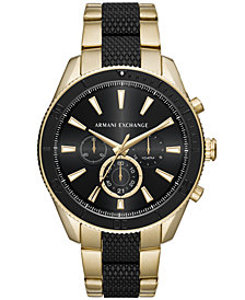 A|X Armani Exchange Men's Chronograph Two-Tone Stainless Steel Bracelet Watch 46mm