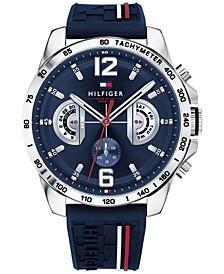 Men's  Navy Silicone Strap Watch 46mm