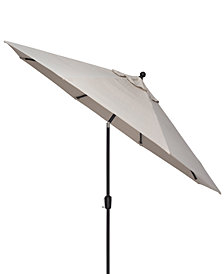 Highland/Montclaire Outdoor 9' Auto-Tilt Umbrella with Sunbrella® Fabric, Created For Macy's
