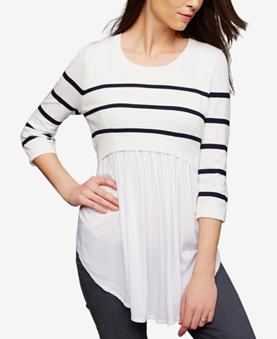 RIPE Maternity Layered-Look Nursing Top