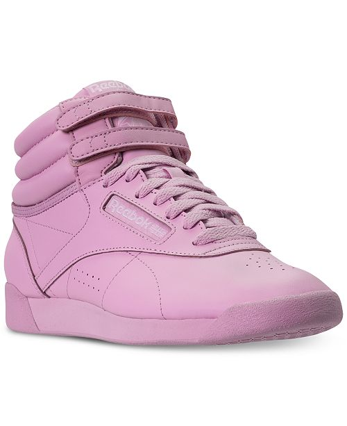 ce3fa57f85546 ... Reebok Women s Freestyle High Top Casual Sneakers from Finish ...