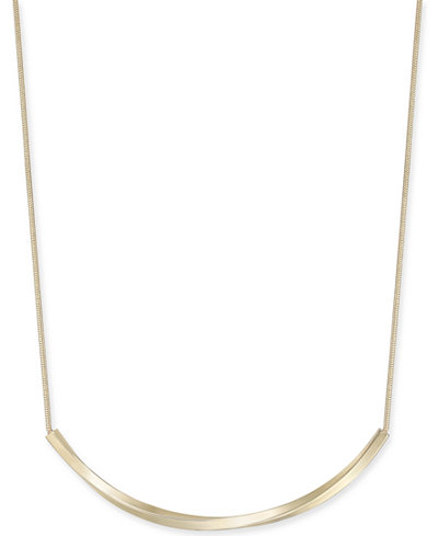 Charter Club Curved Bar Collar Necklace, 17