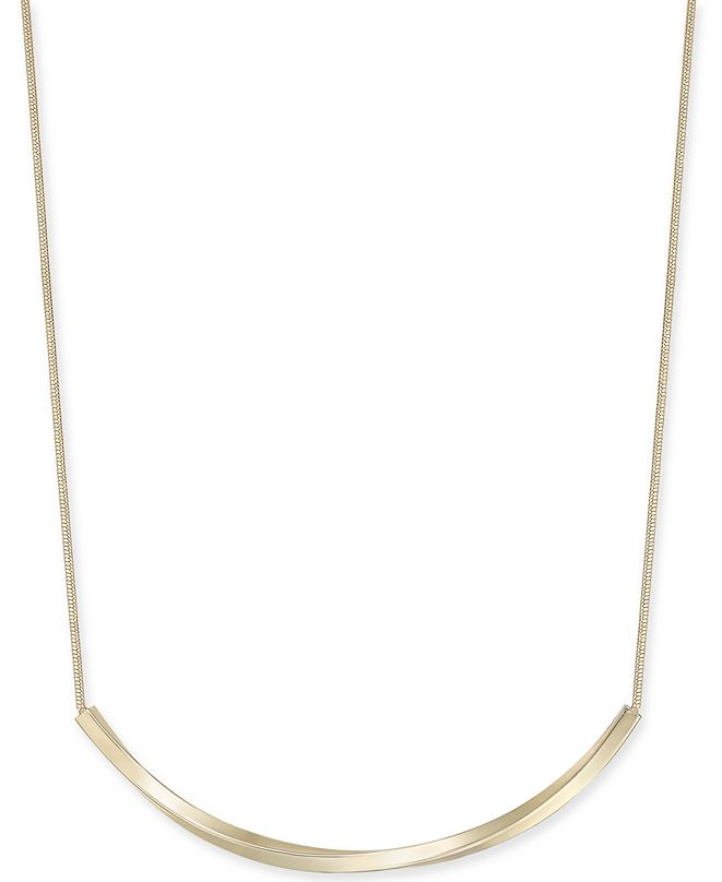 "Charter Club Curved Bar Collar Necklace, 17"" + 2"" extender, Created for Macy's"