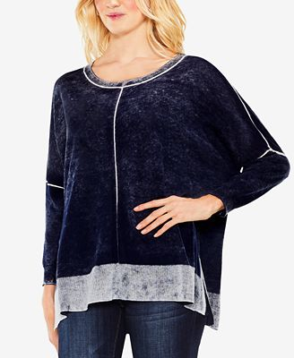 Vince Camuto Cotton Printed Sweater