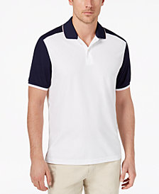 Club Room Men's Colorblocked Performance Polo, Created for Macy's