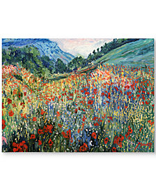 "'Field of Wild Flowers' 30"" x 47"" Canvas Print"