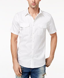 GUESS Men's Arroyo Military Inspired Shirt