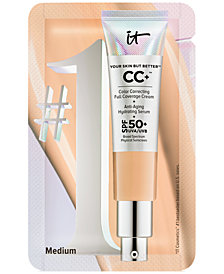Receive a FREE Your Skin But Better CC+ Cream Packette in Medium with any $50 It Cosmetics purchase