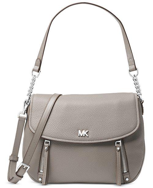 707ee9586445 Michael Kors Evie Pebble Leather Shoulder Bag   Reviews - Handbags ...