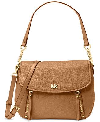 c180a2a2c6bbda Michael Kors Evie Pebble Leather Shoulder Bag & Reviews - Handbags &  Accessories - Macy's
