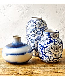 Painted Indigo Vase Collection