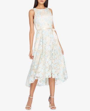 EMBROIDERED MIDI FIT & FLARE DRESS