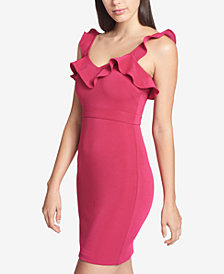 GUESS Ruffled Bodycon Dress