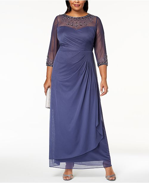 eee6bbecb9e5a Alex Evenings Plus Size Embellished Sweetheart Gown   Reviews ...
