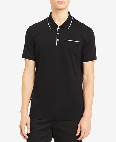 Calvin Klein Men's Tipped Pocket Polo