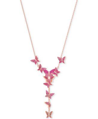 Swarovski Rose GoldTone Butterfly 1478 YNecklace Fashion