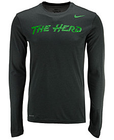 Nike Men's Marshall Thundering Herd Dri-FIT Legend Wordmark Long Sleeve T-Shirt