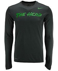 Nike Men's Marshall Thundering Herd Dri-FIT Legend Wordmark Long Sleeve T-Shirt