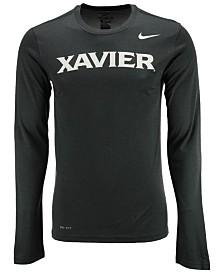 Nike Men's Xavier Musketeers Dri-FIT Legend Wordmark Long Sleeve T-Shirt