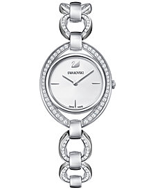Swarovski Women's Swiss Stella Stainless Steel Link Bracelet Watch 29x35mm