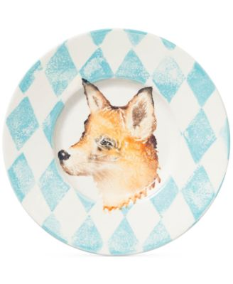 Into the Woods Collection Fox Round Rimmed Platter