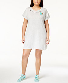 Jenni by Jennifer Moore Plus Size Graphic Sleepshirt & Socks, Created for Macy's