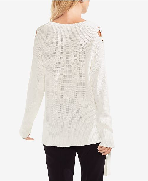 3185ed7bba21de Vince Camuto Lace-Up Sweater & Reviews - Sweaters - Women - Macy's