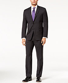 Lauren Ralph Lauren Men's Big & Tall Classic-Fit Ultra-Flex Stretch Black Neat Suit
