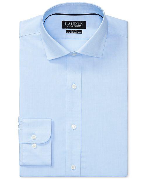 Ralph Lauren Men's Slim-Fit Stretch Dress Shirt