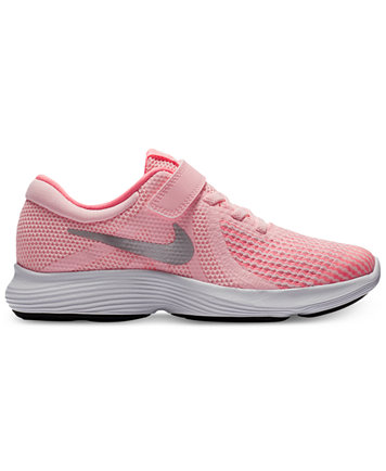 Image 1 of Nike Little Girls' Revolution 4 Athletic Sneakers from Finish  Line
