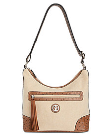 Giani Bernini Linen Hobo, Created for Macy's