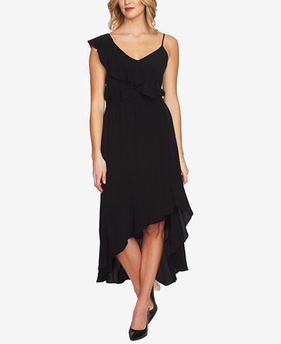 1.STATE One-Shoulder Ruffled Maxi Dress