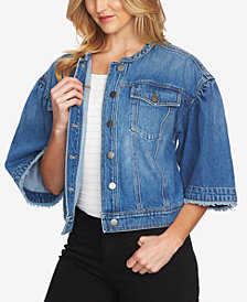 1.STATE Cotton Wide-Sleeve Denim Jacket