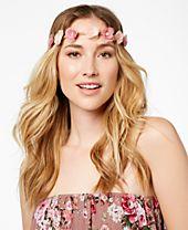 I.N.C. Hair Flower Fabric Headband, Created for Macy's