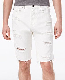 LRG Men's Let Her Rip Straight Fit Destroyed Denim Shorts
