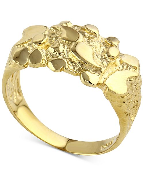 Macy S Nugget Statement Ring In 10k Gold Reviews Rings